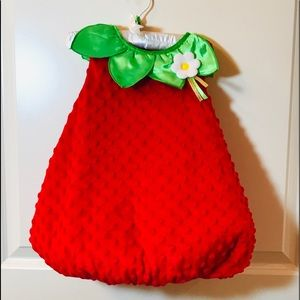 Toddler strawberry Halloween costume